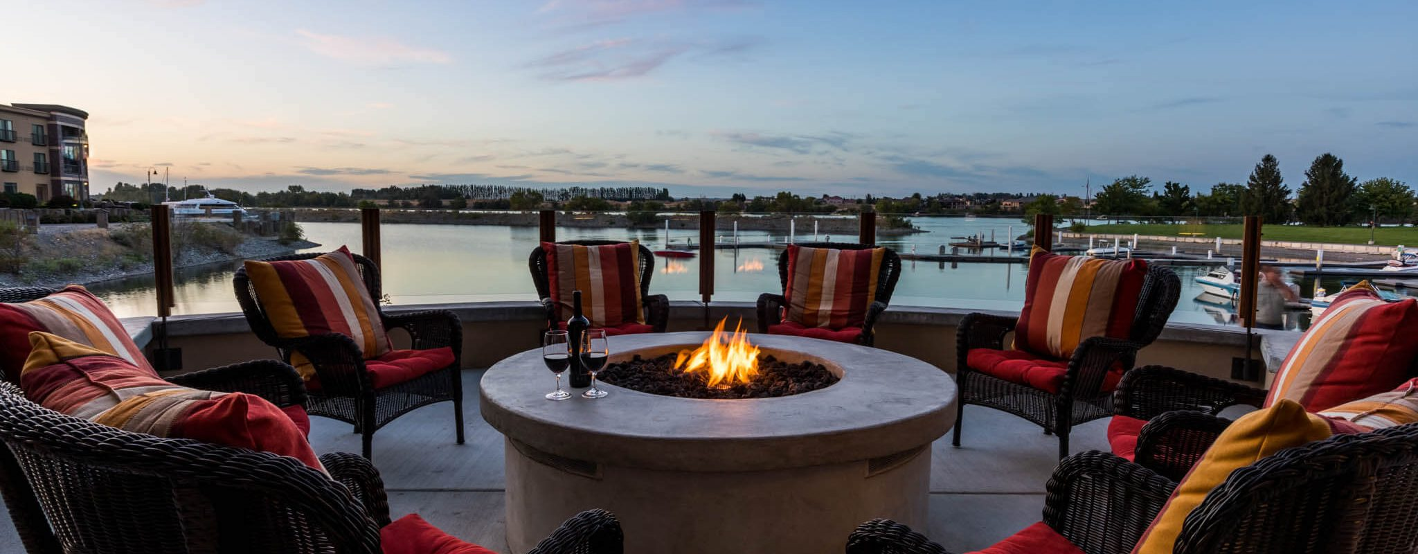 Fireside evening in Richland, Washington