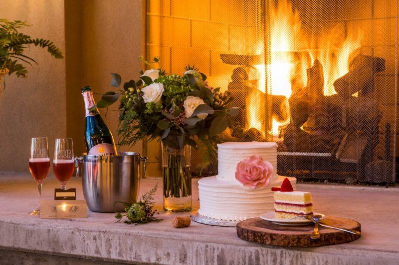 Fireside elopement in Richland, Washington
