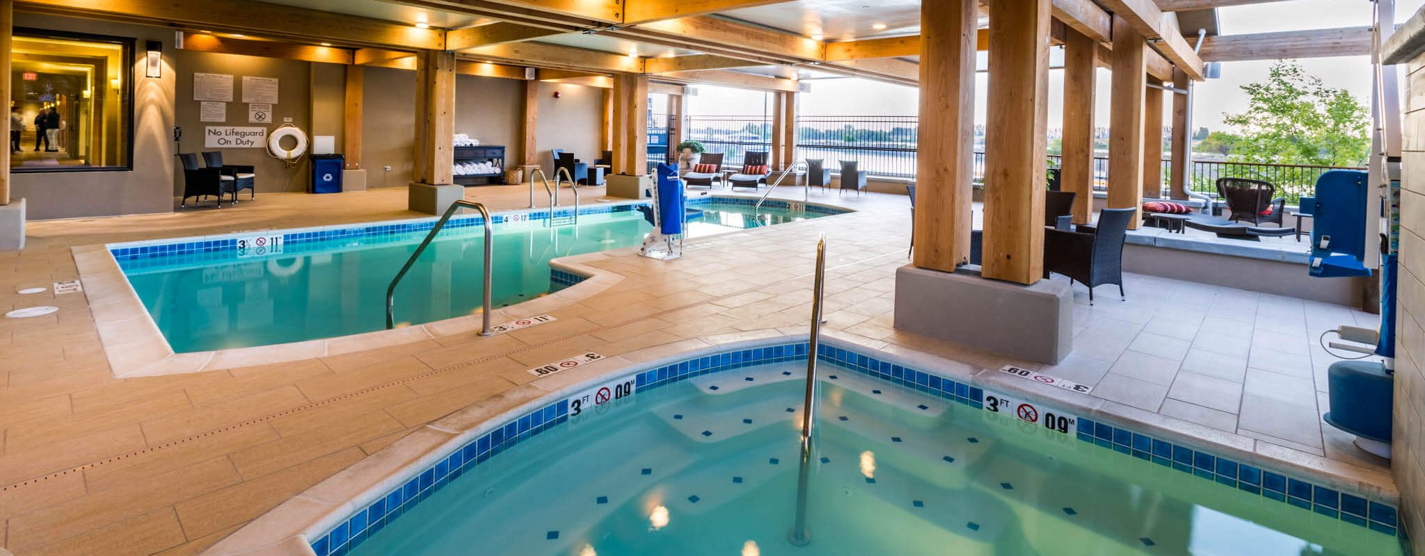Hotel pool in the Tri-Cities