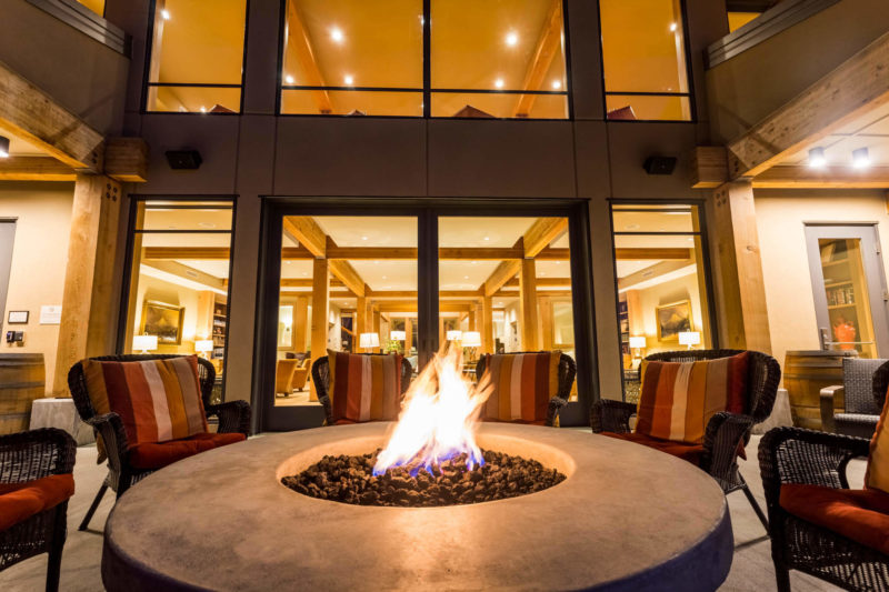 Our fire pit at night is perfect to hang out with your friends