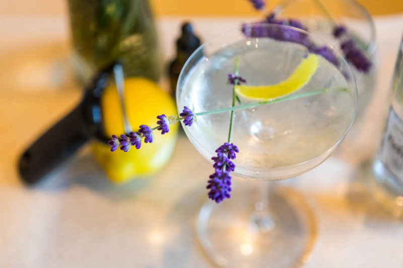 Lavender martini at our Vine Wine and Craft Bar