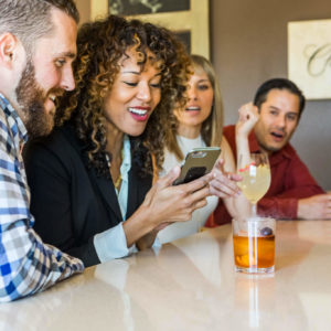 Have a drink with friends as the Vine Wine and Craft Bar