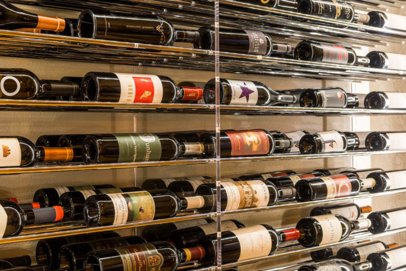 Our wine cabinet is always stocked