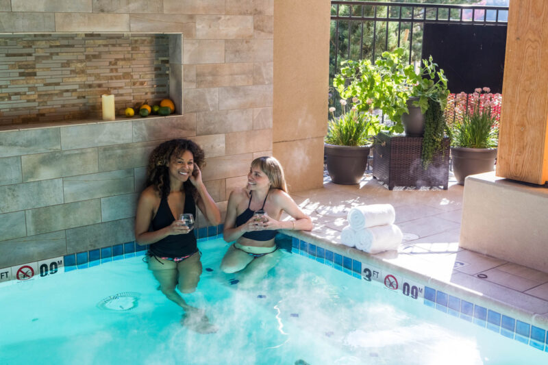 Enjoy time in the hot tub with your friends