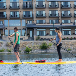 Paddling on the river in Richland