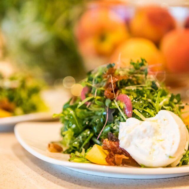 Green seasonal salad at Drumheller's