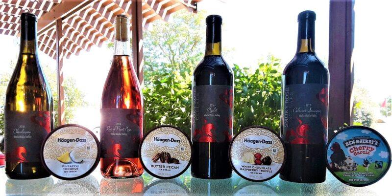 Smokey Rose Cellars Wine with Ice Cream