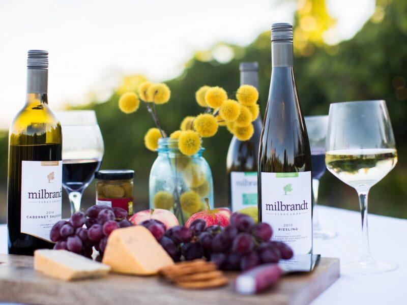 Milbrant wine and snacks